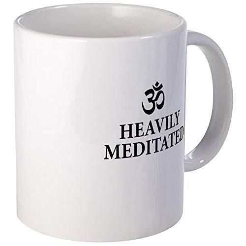 N\A Muy meditado - Funny Yoga Mugs Unique Coffee Mug, Taza de café