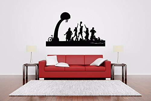 hetingyue Basketball muursticker, voor jongens, sportteam, decoratie, design, decoratie van het huis, vinyl, decoratie
