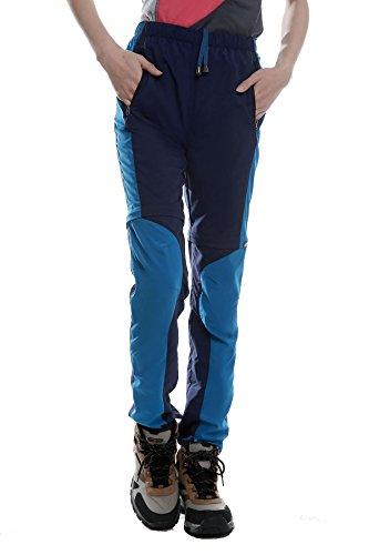 Echinodon Zip Off broek voor dames, sneldrogende trekkingbroek, ademende outdoorbroek, wandelbroek, lente, zomerbroek