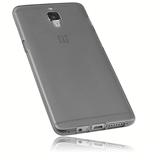 mumbi Hülle kompatibel mit OnePlus 3 / 3T Handy Case Handyhülle, transparent schwarz
