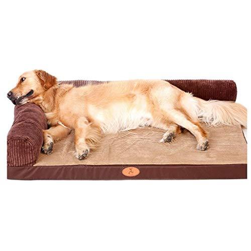 YUMUO Haustiermatte, großer Hundezwinger Abnehmbares und waschbares Hundebett Kinderbett Verschleißfestes Bett für Biss (Farbe: C, Maße: 80 60 cm)