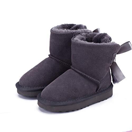 XZJJZ. Mode Klassische Kinder Mädchen Echtes Leder Warme Winter Schneeschuhe for Kinder Kinderschuhe Jungen...