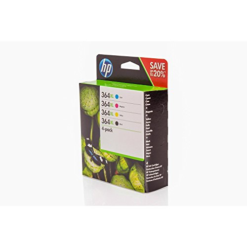 Paquete Promocional de Cartucho de Tinta Original HP PhotoSmart Premium C 309 g - N9J74AE N9J74AE364-364XL, N9J74A - Negro, Cian, Magenta, Amarillo - 1 x 550 & 3 x 750 Páginas