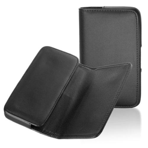 Handytasche Quertasche passend für Wiko Darkfull Handy Schutz Hülle Slim Hülle Cover Etui schwarz