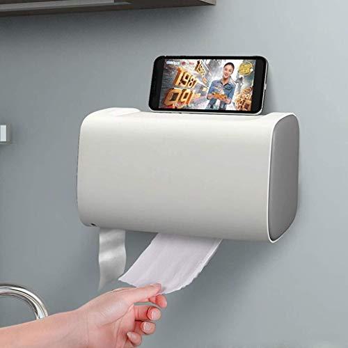 Goquik papieren handdoekhouder, papieren handdoekdispenser, waterdicht badkamer papieren handdoekhouder, geschikt voor badkamerkast, slaapkamer, zwart, roze, grijs, groen