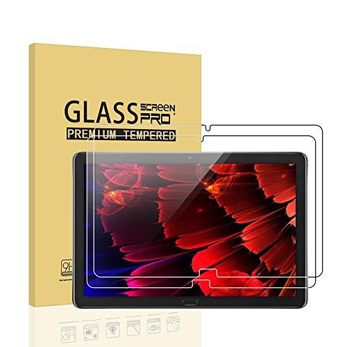 SDTEK *2 Pack Vetro Temperato per Huawei MediaPad M5 Lite 10.1 Pellicola Protettiva Protezione Protettore Glass Screen Protector