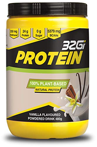 Vegan Protein Powders | 100% Natural Plant Based Protein Powder | Rice & Pea Protein | Strong Immune Support with Wellmune | BCAA | Diary Free | Soy Free | 22g of Protein - Vanilla 480g