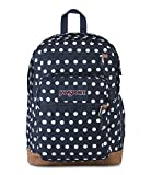 JanSport Cool Student 15-inch Laptop Backpack, Dark Denim Polka Dot