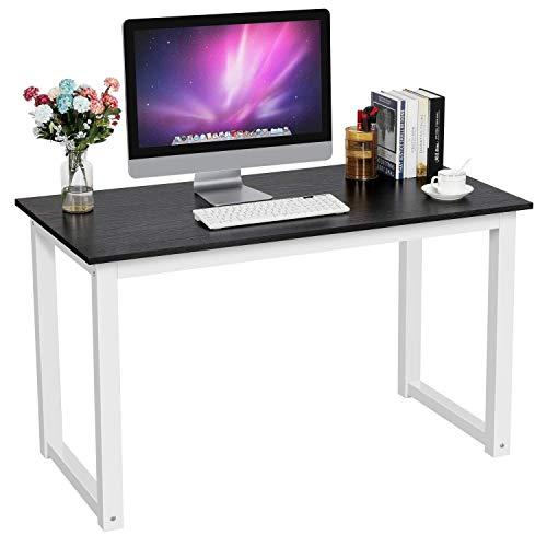 Hancoc Silla de ordenador de compra de esquina compacta, escritorio de ordenador portátil, mesa de estudio de escritura, estación de trabajo para oficina en casa, 120 x 60 x 71,5 cm, color negro