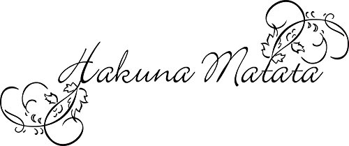 GRAZDesign Dekoration Wohnung modern Hakuna Matata - Wanddekoration Afrikanisches Motiv - Wandtattoo Schriftzug Afrika / 72x30cm / 720157_30_070