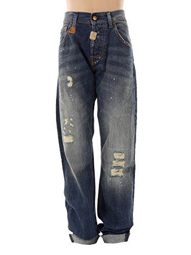 Staff Jeans Hose Freizeithose blau Hardy Zip Knöpfe Damaged gerade 5-821.020.P4.031 (31)