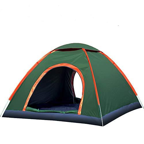 thematys Outdoorzelt leichtes Pop Up Wurfzelt Zelt in Orange-Grün mit Tragetasche - perfekt für Camping, Festivals und Urlaub (3-4 Personen)