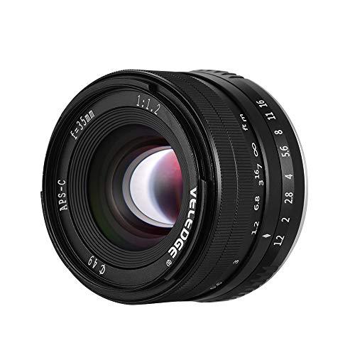 35 mm F / 1.2 Súper alta resolución Gran apertura Cámara estándar Lente principal Ligero MF Lente de enfoque manual 0.25 m Distancia focal más cercana Compatible con Fuji Fujifilm X-Mount Cámaras para