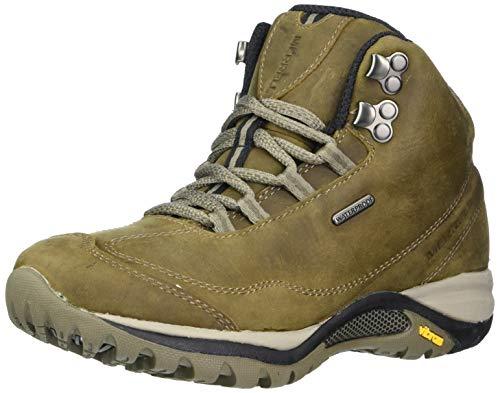 Merrell Women's Siren Traveller 3 MID Waterproof Hiking Boot, Brindle/Boulder, 7.5