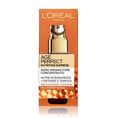 L'Oréal Paris Age Perfect Nutrition Supreme Siero Viso Antirughe Riparatore, Pelli Mature e Secche, 30 ml