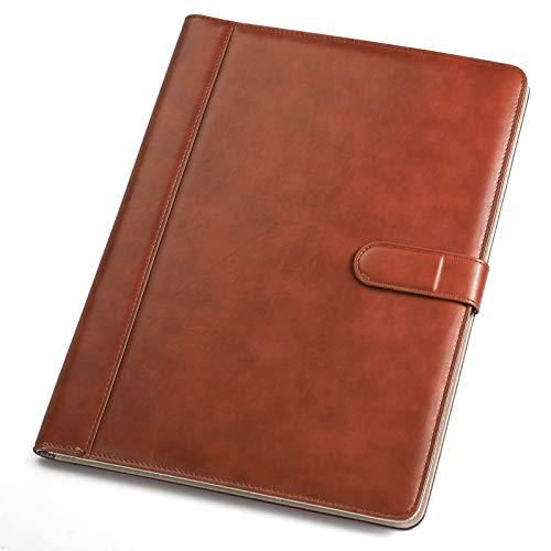 Padfolio Business/Resume Portfolio, AHGXG Leather Folder with...