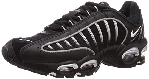 Nike Men's Air Max Tailwind 4 Casual Shoes (10, Black/White/Metallic Silver/Reflect)