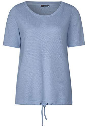 Street One Damen 314806 T-Shirt, Vapor Blue Melange, 38