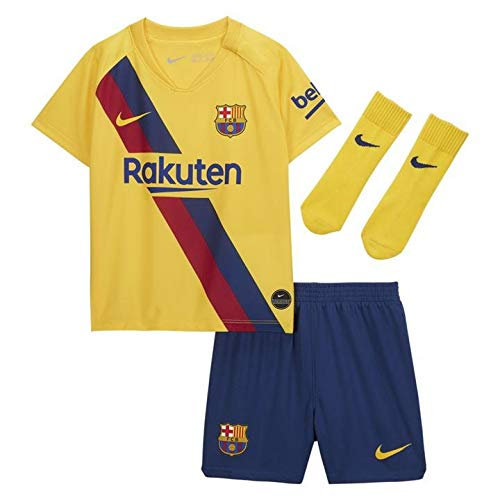 Nike 2019-2020 Barcelona Away Baby Kit, Kinder, gelb, 9/12 Monate