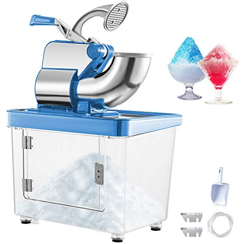 %23 OFF! VEVOR 110V Commercial Electric Ice Shaver 440lbs/h Heavy Duty Snow Cone Maker with Dual Bla...