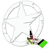 AlphaVinyl Distressed Oscar Mike Freedom Edition Star Hood Decal fits Jeep Wrangler and All Other Jeep Models Universal fit 19' Matte White Vinyl with air Release Technology. Install kit Included
