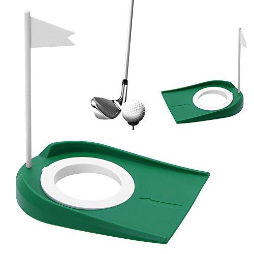 SOONHUA Estera de Golf de Interior/Taza de Práctica de Putting Green Golf Hoyos de Entrenamiento de Hoyos de Práctica Práctica de Plástico Poner en Interiores Y Exteriores