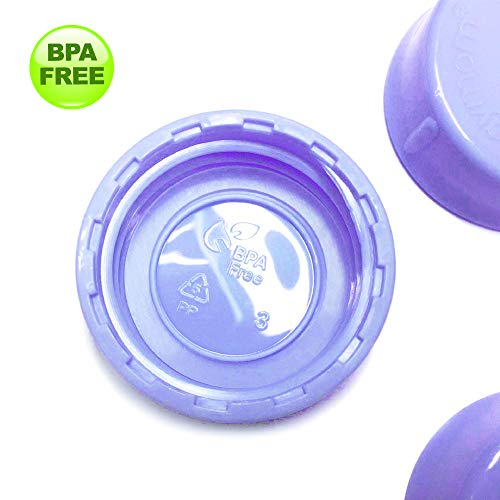 Maymom Solid Lids with Sealing Ring for Standard Sized Bottles; Bottles Lids/Fits Medela Bottles, Ameda, and Small Sized Nuk, Playtex, Gerber Bottles; 8pc (Purple)