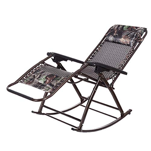 Y&MoD Rocking Sun Lounger,Outdoor Folding Orb Rocking Chair with Pillow for Garden, Patio, Deck,Support 150kg