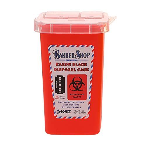 Tragbare 1L Sharps Container Medizinische Nadeln Bin Biohazard Tattoo Piercing Nadeln Barber Rasierklinge Entsorgung Sammeln Box
