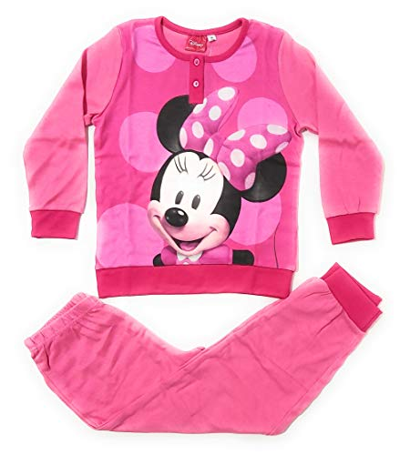 Pyjama, Minnie Maus, langärmlig, für Mädchen, Disney Minnie Maus, Baumwolle,...