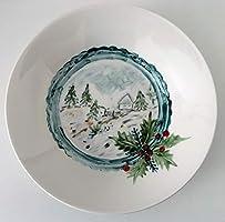 MaJe ceramista Plato esmaltado porcelana pintada a mano navidad unico.