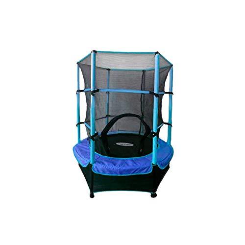 ATAA Cama elástica Infantil 140 - Azul trampolín con una Zona de Salto de 140 centímetros, Red de Seguridad y Almohadillas de protección.