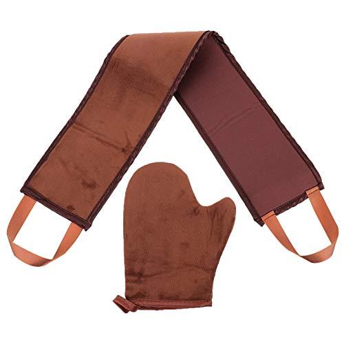 Amosfun Lot de 2 gants de bronzage pour le dos et l'applicateur de bande double face pour le visage, le dos, les épaules et le corps