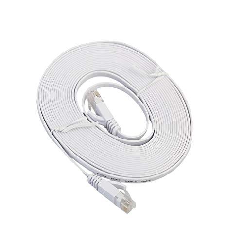 Cable Ethernet CAT6e Cable de red Ethernet plano LAN de transmisión de alta velocidad Cable Ethernet para ordenador portátil compatible con Cat 5e y Cat 5 entorno para oficina en casa (3M)