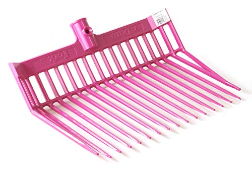 LITTLE GIANT DuraFork Pitch Fork Replacement Head (Hot Pink) Durable Polycarbonate Stable Fork Head with Angled Tines (Item No. PDF103HOTPINK)
