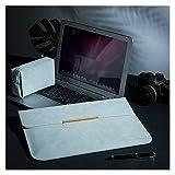 GZA Bolsa De Manga Portátil Funda Portátil para MacBook Pro 13 Pulgadas MacBook Air Bolsa Impermeable para La Superficie Pro Xiaomi (Color : Light Blue, Size : Huawei MateBook D 14)