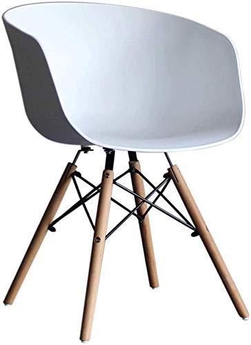 Esszimmerstuhl, HYX003 komputerowy fotel wypoczynkowy, Bürostuhl, Verhandlungsstuhl, biuro domowe, nordycki minimalistyczny styl, Kunststoff mit Rückenlehne, mit Sessel (Kolor: Weiß)