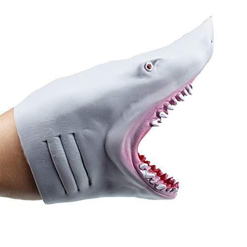 Juguetes de Marionetas de Mano de tiburón, Juguetes de Juego de Roles de Marionetas de tiburón de Goma elásticos Suaves realistas para niños