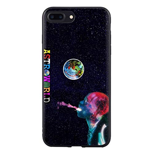 Moreover Travis Scott Astroworld Phone Case for Apple iPhone X XS Max XR 86 6S Plus 5 5S SE Soft Silicone Black Cover (iPhone 7-8 Plus)