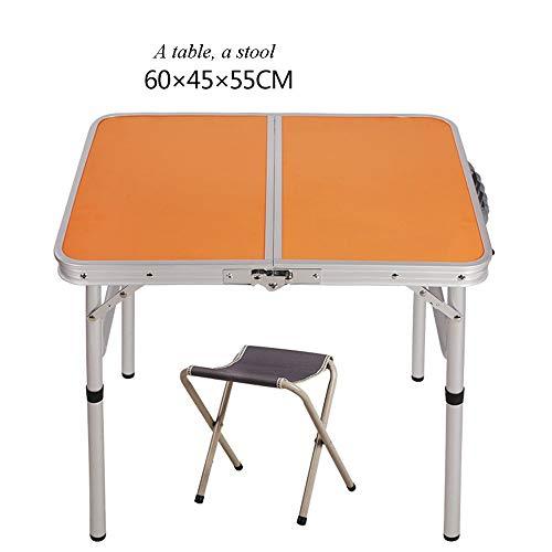 LLA klaptafel barbecue tafel bijzettafel buiten camping een kruk twee krukken vier krukken 60 * 45 * 58,5 cm beweegbare aluminiumlegering tentoonstelling tabel B