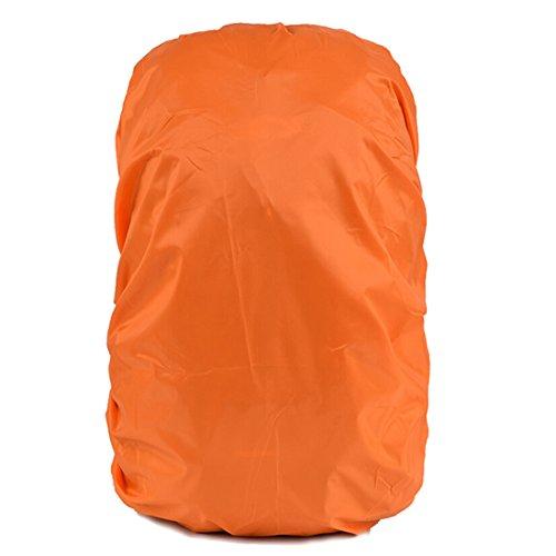 Copertura Custodia di Zaino Antipioggia Impermeabile per Zaino Parapioggia Coprizaino Impermeabile Pioggia Copertina Zaino per Campeggio Trekking Regolabile per Zaino de 30L-45L (Arancione)