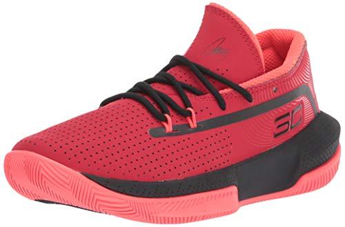 Under Armour UA GS SC 3ZER0 III, Zapatos de Baloncesto Unisex Niños, Rojo (Red/Black/Black (601) 601), 36 EU