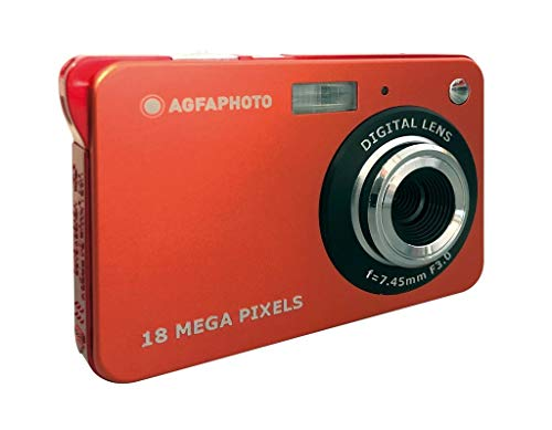 AGFA Fotoapparat Realishot DC5100 Kompaktkamera (18 MP, 2,7 Zoll LCD, Digital-Zoom 8 x, Lithium-Akku) Rot