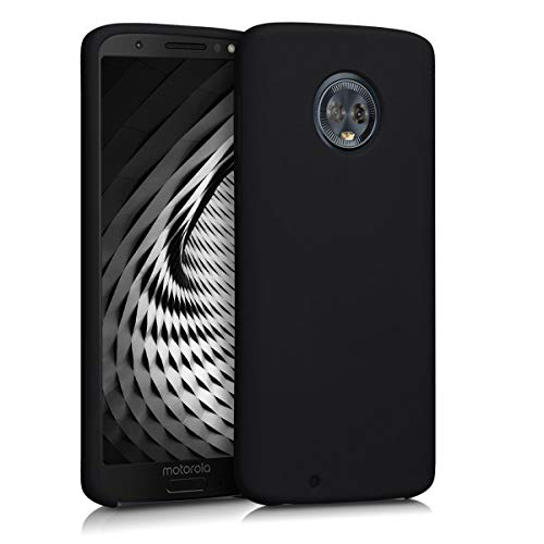 kwmobile Hülle kompatibel mit Motorola Moto G6 - Hülle Silikon gummiert - Handyhülle - Handy Hülle in Schwarz