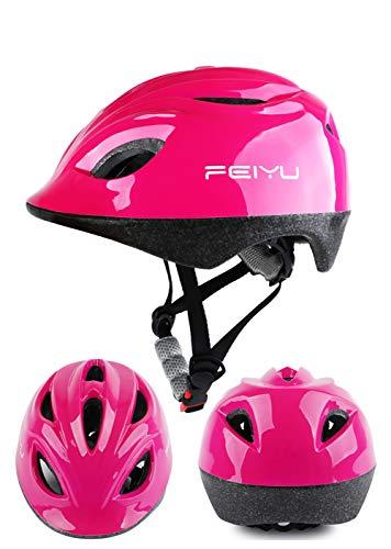 LLIIAYUK Kinderhelm Rollschuhhelm Kinderfahrradhelm Helm verstellbar Roller Hut Balance Autohelm, geeignet für Kinder von 3-10 Jahren (50cm-54cm)-4