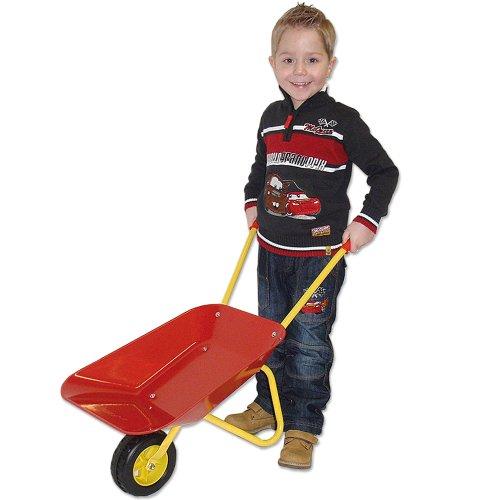 Metall-Schubkarre für Kinder 78 x 40 x 38 cm rot-gelb Kinderschubkarre