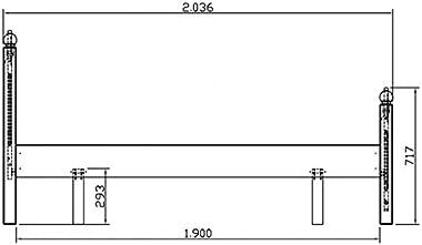 ACTUAL DIFFUSION Windsor Lit Pin Miel 140 x 190 2 Places avec Sommier, 198x149x100 cm