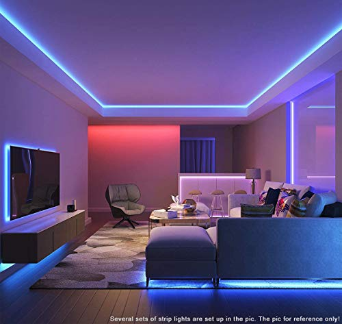 Waterproof Led Strip Lights for Bedroom 50 Feet 4