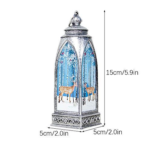 ZQEU - Luces de Navidad, moderna vela de Navidad con luz LED de té, lampión de llama, lámpara sin fuego, velas de día festivo colgante adornos regalos