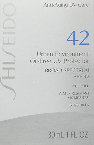 Shiseido Urban Environment Oil-free UV Protector SPF 42 Broad Spectrum for Face, 1 Ounce